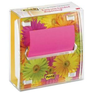 Post it Pop up Notes Clear Top Note Dispenser Daisy Insert 3 X 3