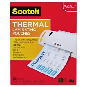 Scotch Thermal Laminating Pouches 100 Count Letter Size Sheets tp3854 100