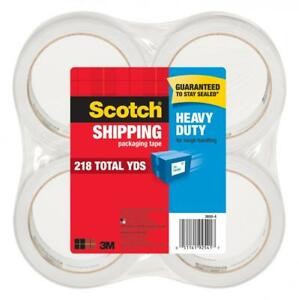 Scotch Heavy Duty Shipping Packaging Tape 4 Rolls pack 54 6 Yd Per Roll