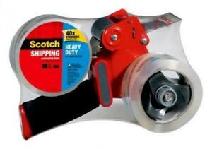 Scotch Heavy Duty Shipping Packaging Tape Twin Pack With Dispenser 1 88
