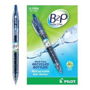 Pilot B2p Bottle 2 pen Recycled Retractable Gel Ink Pen Blue Ink 7mm