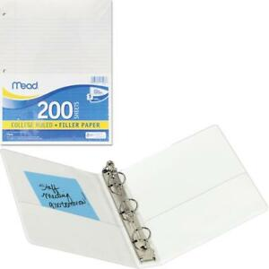 Mead Filler Paper College Ruled 3 hole Punched 11 X 8 1 2 200 Sheets Per