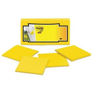 Post it Notes Super Sticky Full Adhesive Notes 3 X 3 Electric Yellow