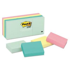 Post it Notes Original Pads In Marseille Colors 1 1 2 X 2 100 sheet