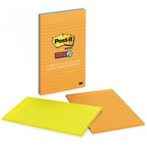 Post it Super Sticky Notes 5 In X 8 In Rio De Janeiro Color Collection