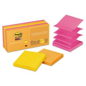 Post it Super Sticky Pop up Notes 10 Pack 3 x 3 Rio De Janiero Collection