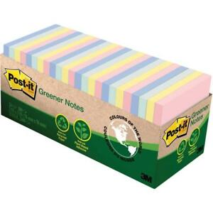 Post it Greener Sticky Notes Cabinet Pack Helsinki Collection 24 Pads