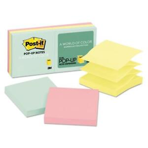 Post it Pop up Notes 3 X 3 Marseille Collection Assorted 6 Pack