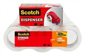 Scotch Long Lasting Storage Packaging Tape 6 Pack With Dispenser 1 88 In