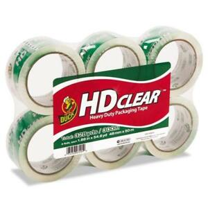 Duck Hd Clear Packaging Tape 1 88 In X 54 6 Yd Clear 6 count