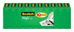 Scotch Magic Office Tape Refill 10 Pack 3 4 In X 800in Per Roll Clear