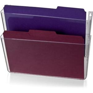 Officemate Wall File Letter Size Clear 2 Pack 21404