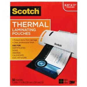 Scotch Thermal Laminating Pouches Letter Size 50 pack