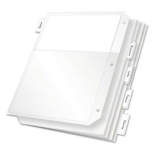 Cardinal Poly Ring Binder Pockets 11 X 8 1 2 Clear 5 pack crd84010