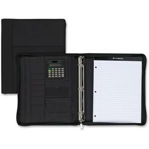 Cambridge Zipper 3 ring Binder With Notepad Calculator 200 Sheets 8 1 2