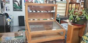 Custom Made Wood Glass Counter Top Display Case