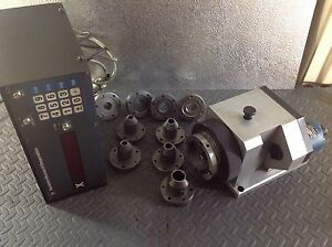 Dynamic Research Dro Rotary Indexer Fixture Table End Mill Collets Grinder Jig