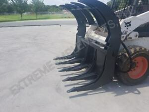 New 84 Extreme Root Rake Grapple Dual Cylinders american Made