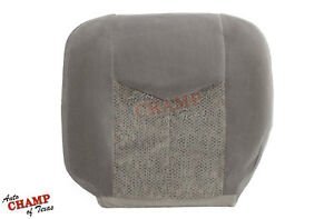 2005 2006 Chevy Avalanche Driver Side Bottom Replacement Cloth Seat Cover Gray