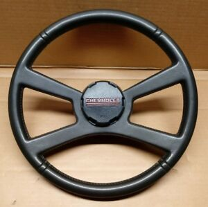 1988 1994 Chevy Truck Leather 4 Spoke Steering Wheel And Horn Button