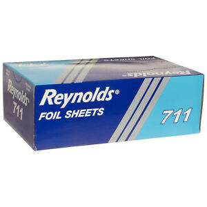 Reynolds 711 Pop Up Interfold Economy Aluminum Foil Sheet Silver 10 75 Length