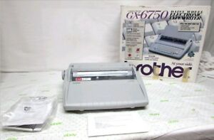 Brother Daisy Wheel Electronic Correcting Typewriter Gx 6750