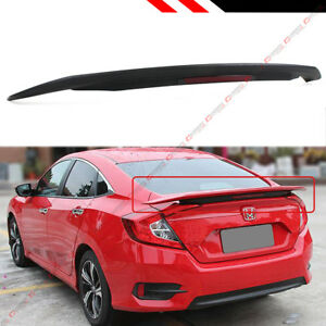For 2016 2018 Honda Civic 4dr Sedan Lx Ex Ext Si Style Rear Trunk Spoiler Wing