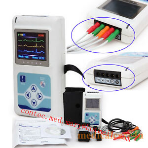 3 Channel Ecg Holter Ecg ekg Holter System 24 Hours Recording Monitor Tlc9803