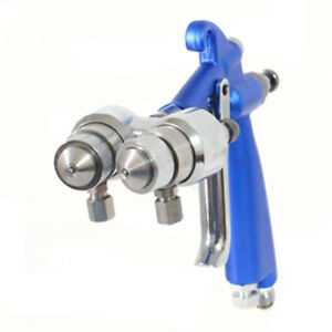 Air Brush Hvlp Spray Gun Air Compressor Double Nozzle Nanometer Paint Sprayer Y