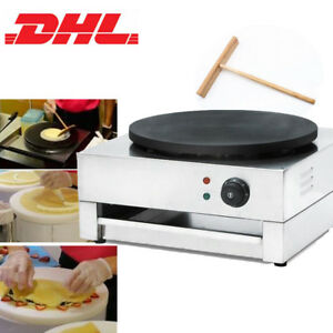 Commercial Non Stick Electric Crepe Maker Pancake Machine Single Hotplate 3kw