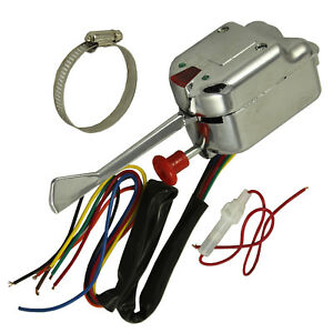New Chrome For Ford Buick Gm 12v Street Hot Rod Turn Signal Switch Universal