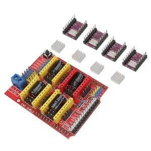 Cnc V3 Shield 4x Drv8825 Stepper Driver Fits For Arduino Compatible Board