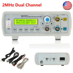Us Fy2202s 2mhz Dual Channel Dds Function Signal Generator Square Waveform Usb