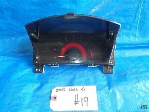 2012 Honda Civic Si Oem Factory Instrument Cluster X19