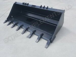 72 Extreme Skid Loader Tooth Bucket 1 X 8 Edge 1 2 Steel