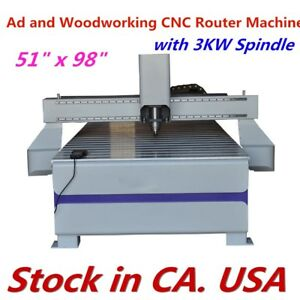 51 X 98 Ad Woodworking Cnc Router Routing Machine 3kw Spindle us Stock