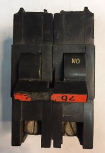 Federal Pacific Fpe Stab lok Breaker 2 Pole 70 Amp 240v Thick Ships Today