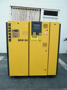 2002 Kaeser Bsd50 50 Hp Rotary Screw Air Compressor Ingersoll Rand Quincy