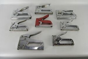 Vintage Lot Of 8 Varios Model Hand Staplers