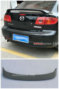 Primer Deflector Rear Wing Trunk Spoiler For Mazda 3 Spoiler M3 4door 2003 2008