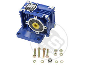 Right Angle Gearbox Geared Speed Reducer For Rv030 Ratio 1 80
