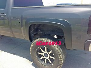 Factory Style Fender Flares For 2007 2008 2009 2010 2013 Chevy Silverado 2500hd