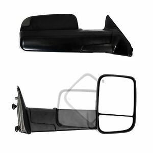 Towing Mirrors For 2009 18 Dodge Ram 1500 2010 18 Ram 2500 3500 Free Shipping
