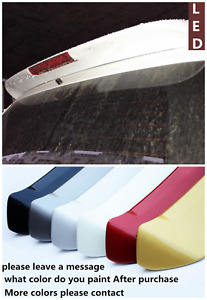 Ledstyle Wing Cover Deflector For Mitsubishi Pajero Sport Rear Spoiler 2011 2016