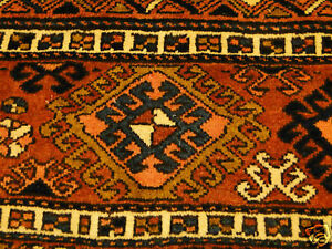 Authentic Colorful Antique Handmade Sofreh Shahsavan Accent Rug Panel Rug 2 X3