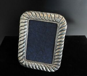 Vintage Sterling Silver 925 Photo Picture Table Frame Embossed Art Deco Style