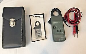 Robinair Digital Clamp Meter 17017 Test Leads Original Case Instructions Tested