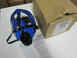Us Safety 120m Dual Cartridge 120 Silicone Full Face Facepiece Respirator Mask