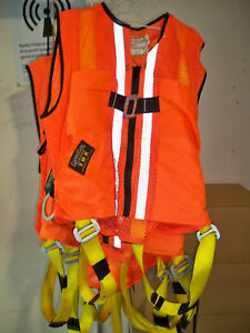 Lot Of 4 Guardian Fall Protection tux Safety Vest Harness Reflective Size Xl