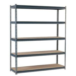 New Edsal Commercial Shelving Unit In Gray Steel 72 In H X 60 In W X 24 In D